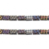 Glass Peacock Tiny Flat Beads 5X3.5mm Black Marea